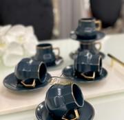 ACR Acr Octagon Espresso set 12-Delig | 6-Persoons Blauw
