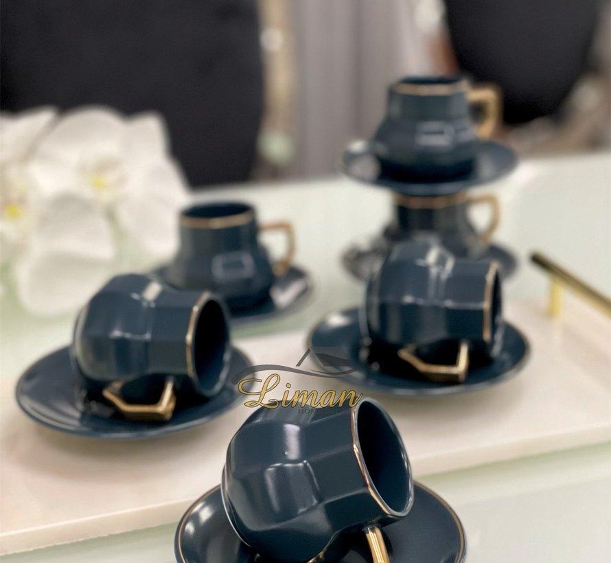 Acr Octagon Espresso set 12-Delig | 6-Persoons Blauw