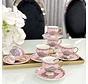 ACR Ottomaans Espresso set Roze 12-Delig | 6-Persoons