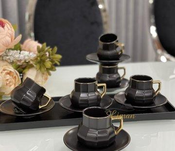 ACR Acr Octagon Espresso set 12-Delig | 6-Persoons Zwart