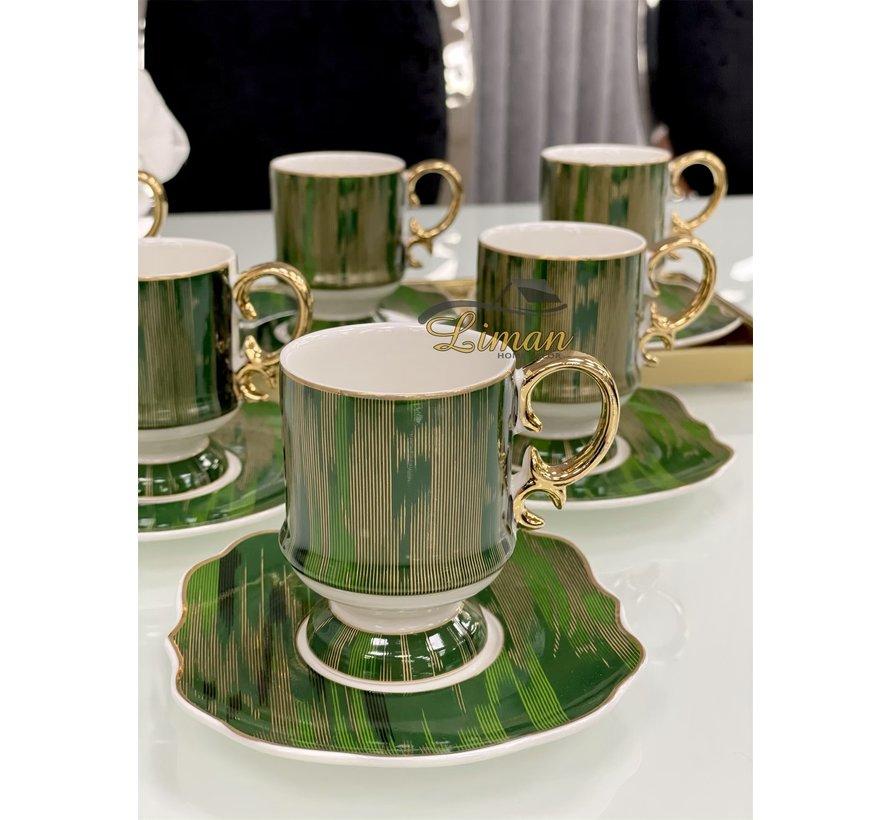 ACR Saray 12 Delig Espressoset Groen