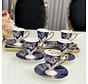 ACR Lazer Espresso set met Voet 12-Delig   6-Persoons Blauw