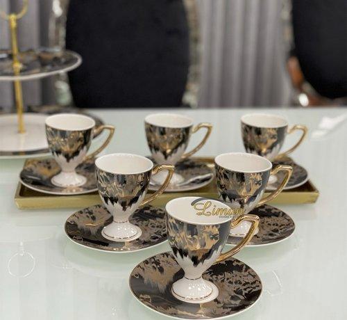 ACR ACR Lazer Espresso set met Voet 12-Delig | 6-Persoons Zwart