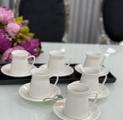 acr Acr Linda Beyaz Porselen 6'Lı Kahve Fincan Takımı