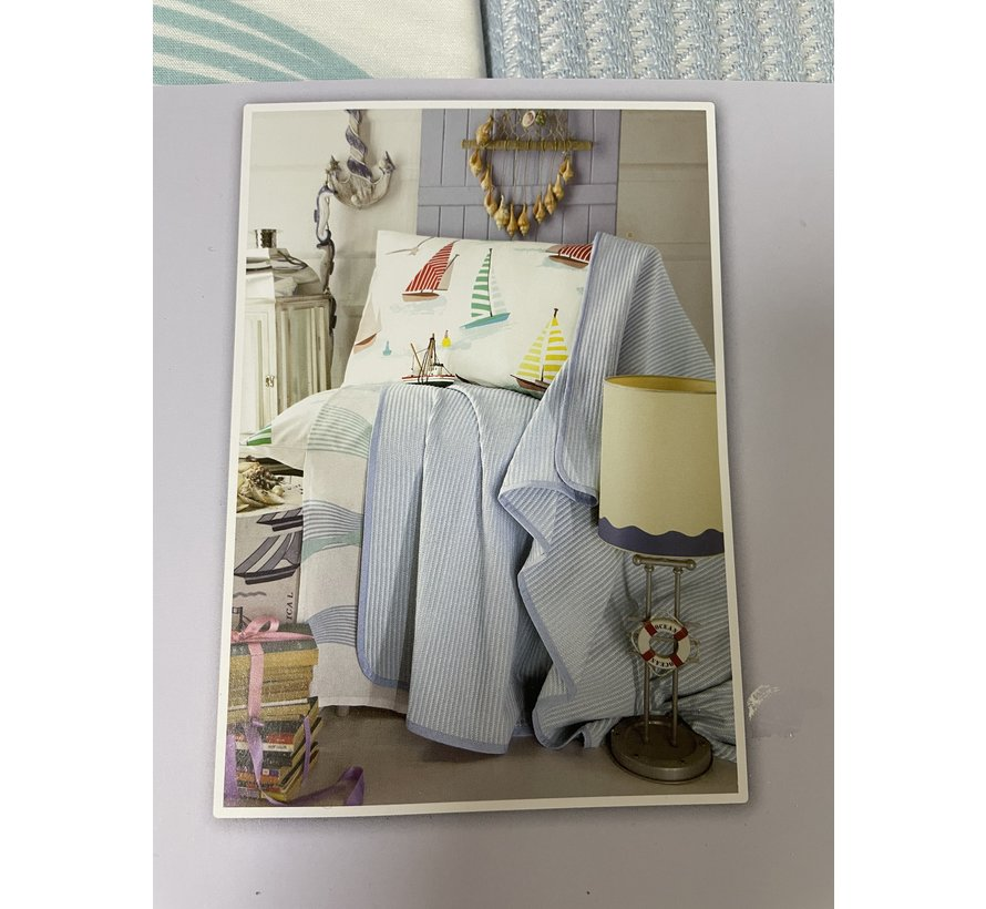 Evim Bedspreiset Maris Blauw 220x230