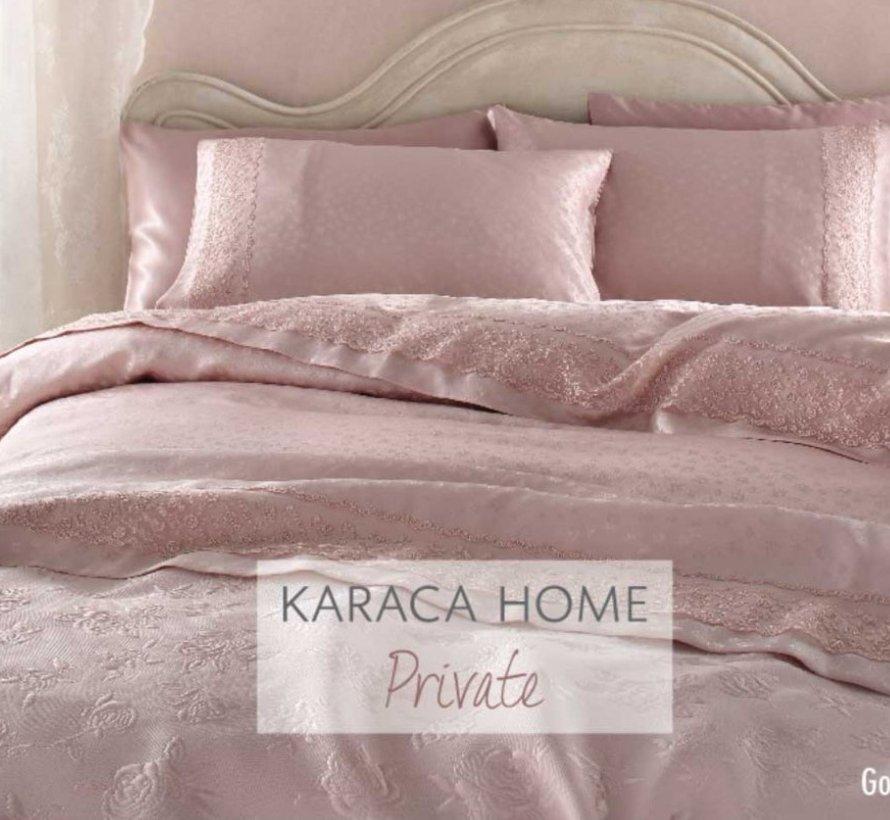 Karaca Home Luxe Gonca Roze Bedspreiset 6 Delig