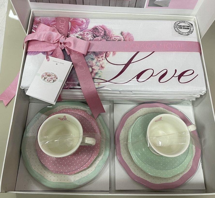 Karaca Anissa Dekbedovertrek + Koffieset