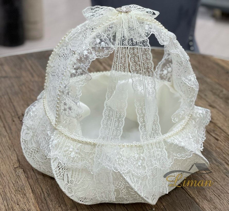 Bruidsmandje Creme Kleur