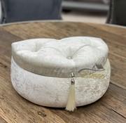 Luxe Kleine D-Vorm Bruidskist Wit