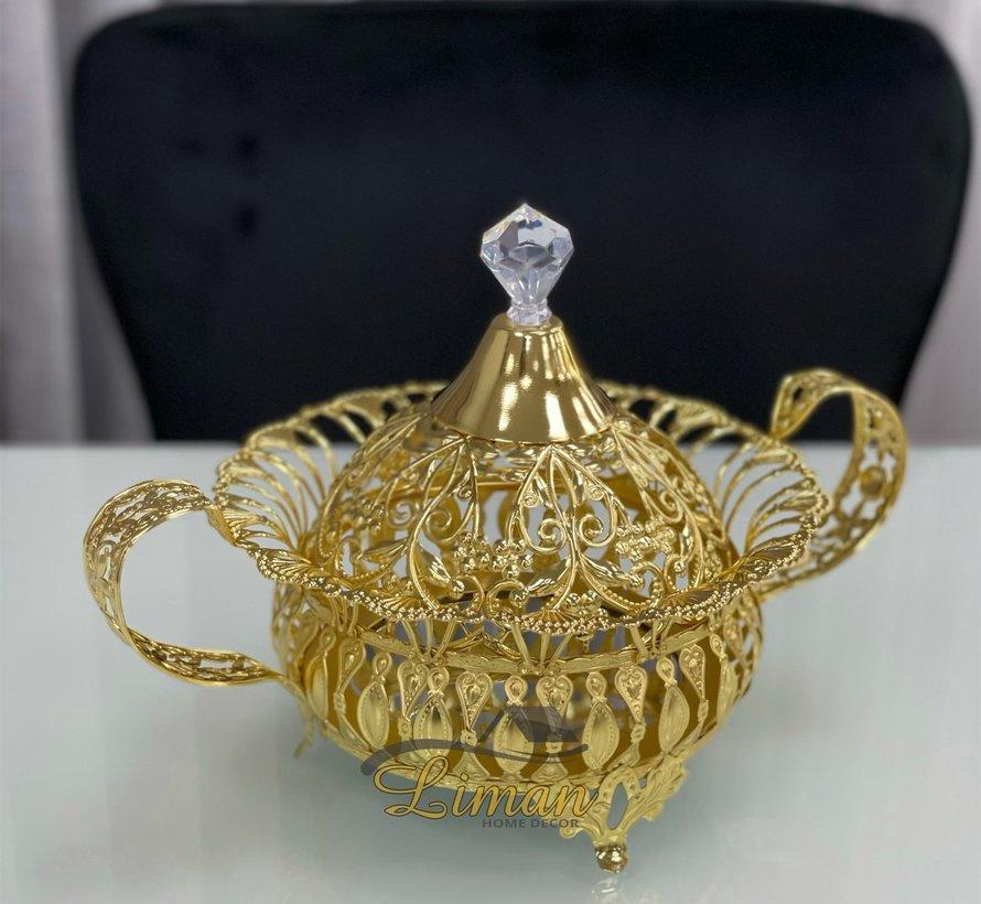 Aras Suikerpot Met Deksel Gold