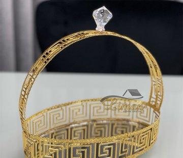 Roland Athena Ovaal Dienblad Met Handvat Gold