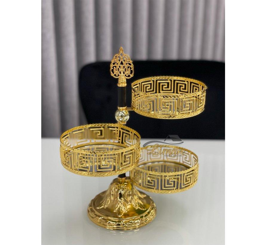 Athena 3 laags Bonbonniere Gold