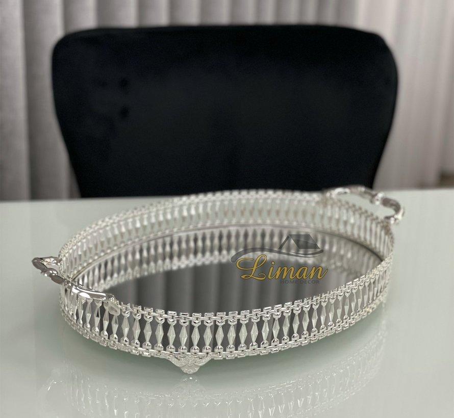Aras Dienblad Ovaal Zilver