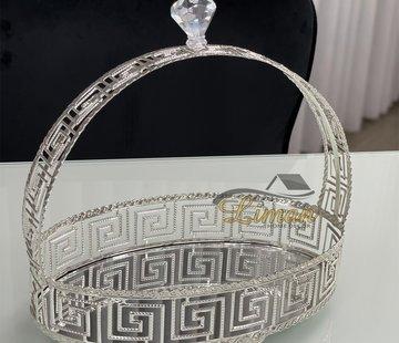 Roland Athena Ovaal Dienblad Met Handvat Zilver