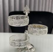 Roland Athena 3 laags Bonbonniere Zilver