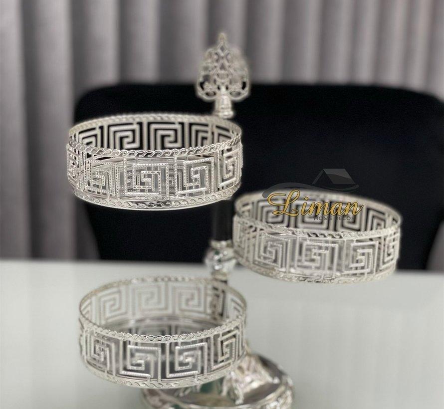 Athena 3 laags Bonbonniere Zilver