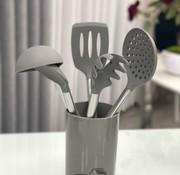 ACR ACR 6 Delig Silikon Keukengereiset Donker Grijs