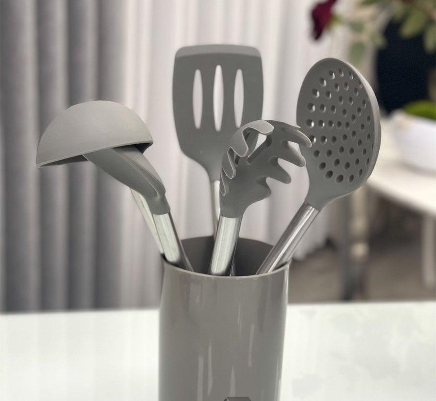 ACR 6 Delig Silikon Keukengereiset Donker Grijs