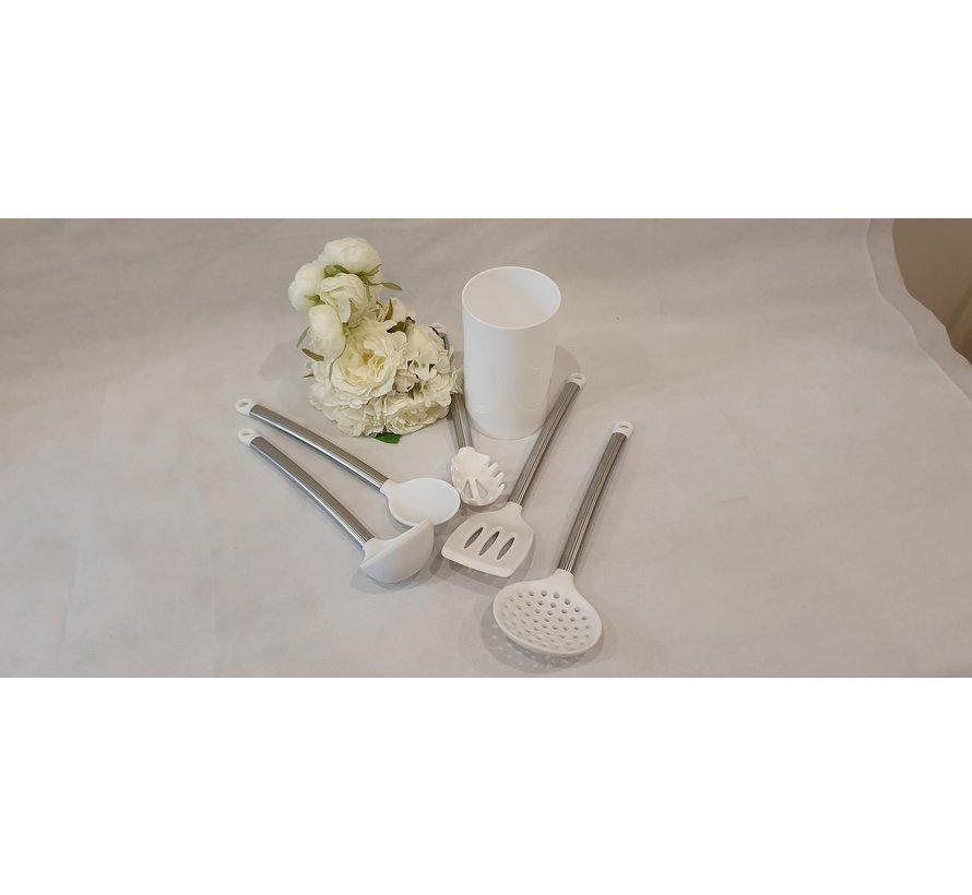 ACR 6 Delig Silikon Keukengereiset Wit