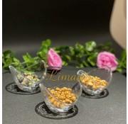 Snackschaal 10x8,5xH6,5cm glas Flavor