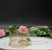 Frietenmand 11xH7cm goud Wire Ware
