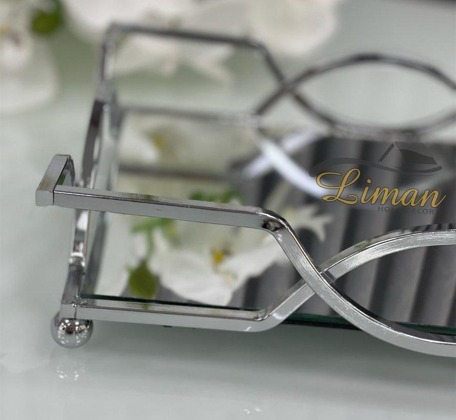 Line Dienbladen Set Zilver 2 Dlg