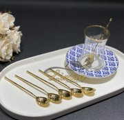 6 pieces teaspoons Gold