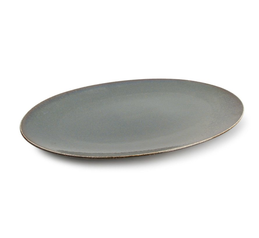 Cirro Teller flach 36x25,5cm grün