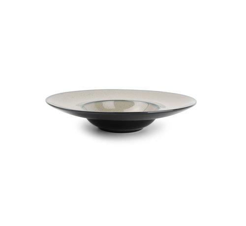 BonBistro Ash Diep bord 28/15xH5,5cm grijs