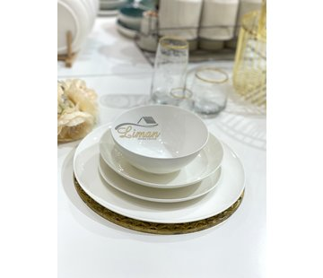 S & P CHIC Perla White 4-Persoons   16-Delig Serviesset