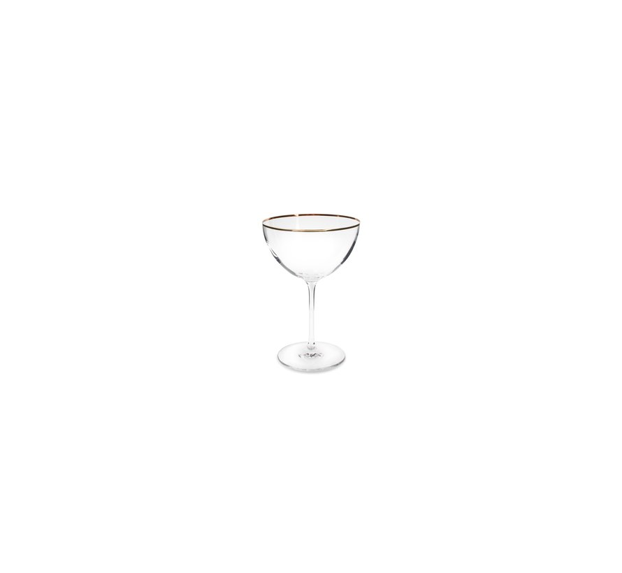 Elegance Champagne coupe 35cl gouden rand - set/2