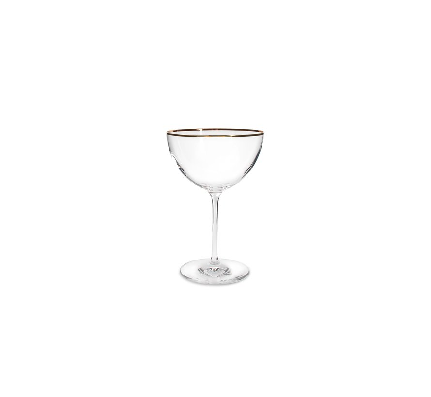 Elegance Champagnerschale 35cl Goldrand – Set/2