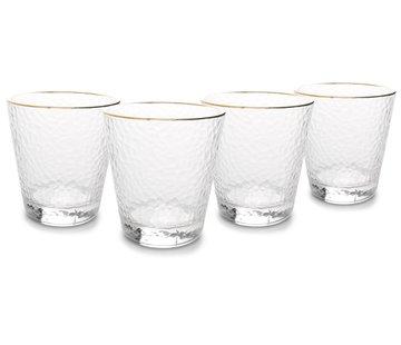 ATS Elegance Glas 29,5cl met gouden rand - set/4