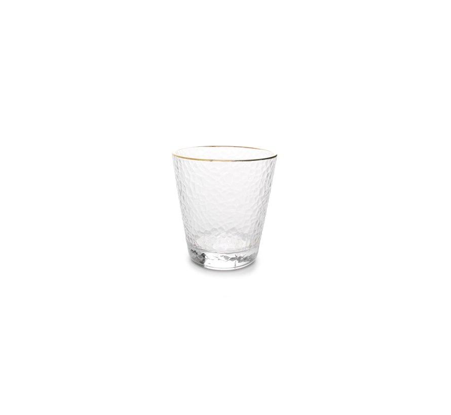 Elegance Glas 29,5cl met gouden rand - set/4