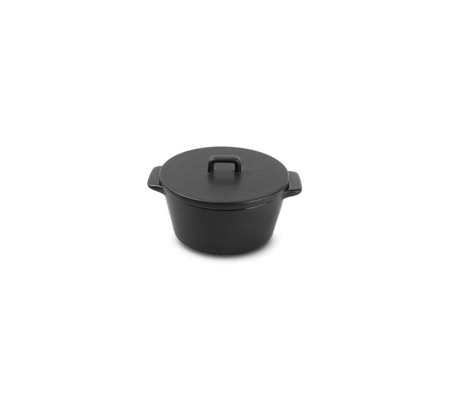 Ardo Ovenschaal 15/10xH5,5cm met deksel zwart