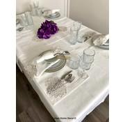 Cinar Tafelkleed Set Met Placemat Cream 34 Dlg