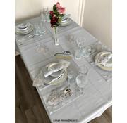 Lotus Tafelkleed Set Met Placemat Grijs 34 Dlg