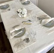 Lotus Tafelkleed Set Met Placemat Cream 34 Dlg