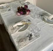 Menekse Tafelkleed Set Met Placemat Cream 34 Dlg