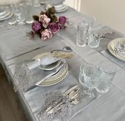 Sehzade Tafelkleed Set Met Placemat Grijs 34 Dlg