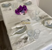 Sehzade Tafelkleed Set Met Placemat Cream 34 Dlg