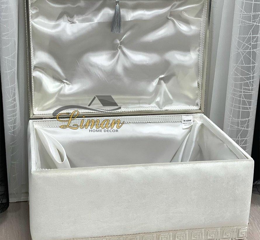 Athena Bruidkisten  Creme - Zilver