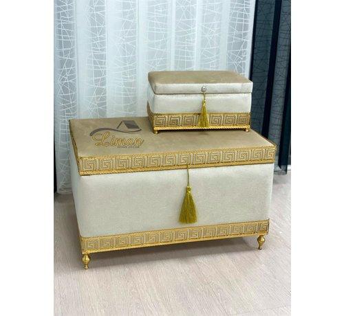 Athena Bruidkisten  Taupe - Gold