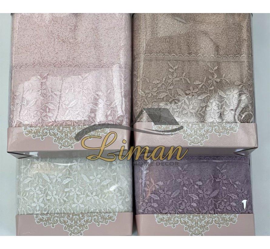 Ipekce Efsun Handdoek 50 x 90 cm Roze