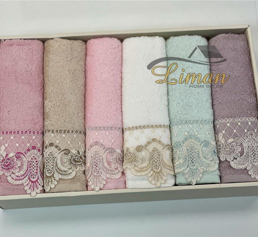 Ipekce Bambu Handdoek 6 Delig