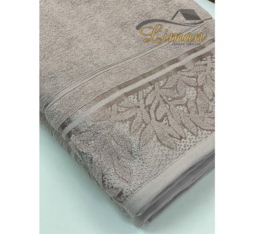 Ipekce Glory Handdoek 90 x 150 Cm Bruin