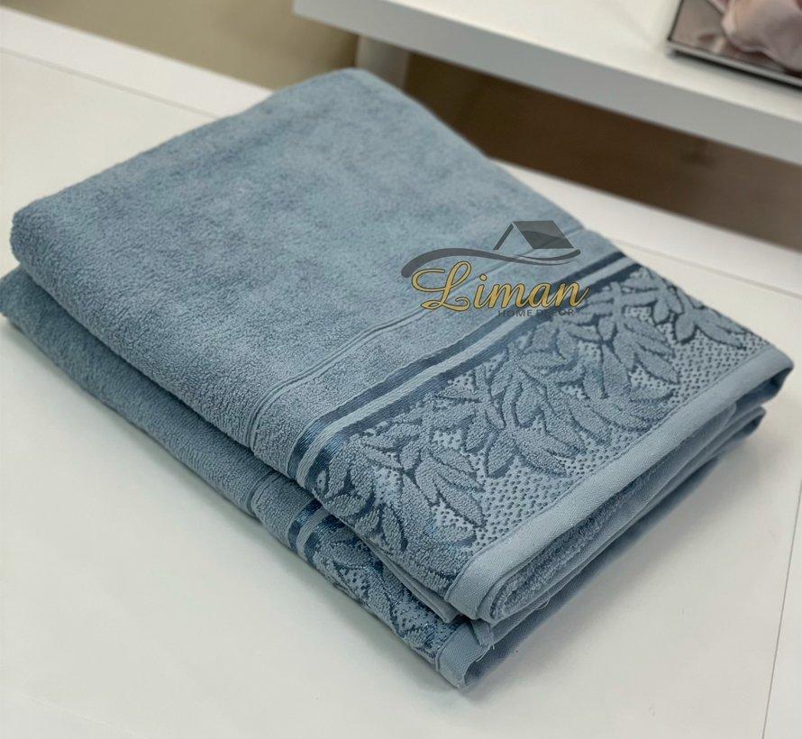 Ipekce Glory Handdoek 90 x 150 Cm Blauw
