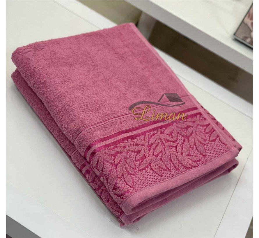 Ipekce Glory Handdoek 90 x 150 Cm Roze