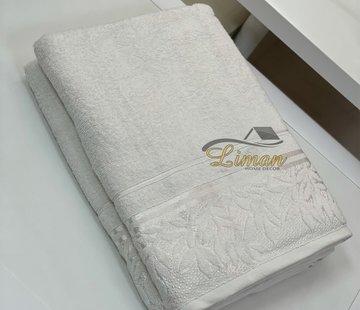 IPEKCE Ipekce Glory Handdoek 90 x 150 Cm Cream