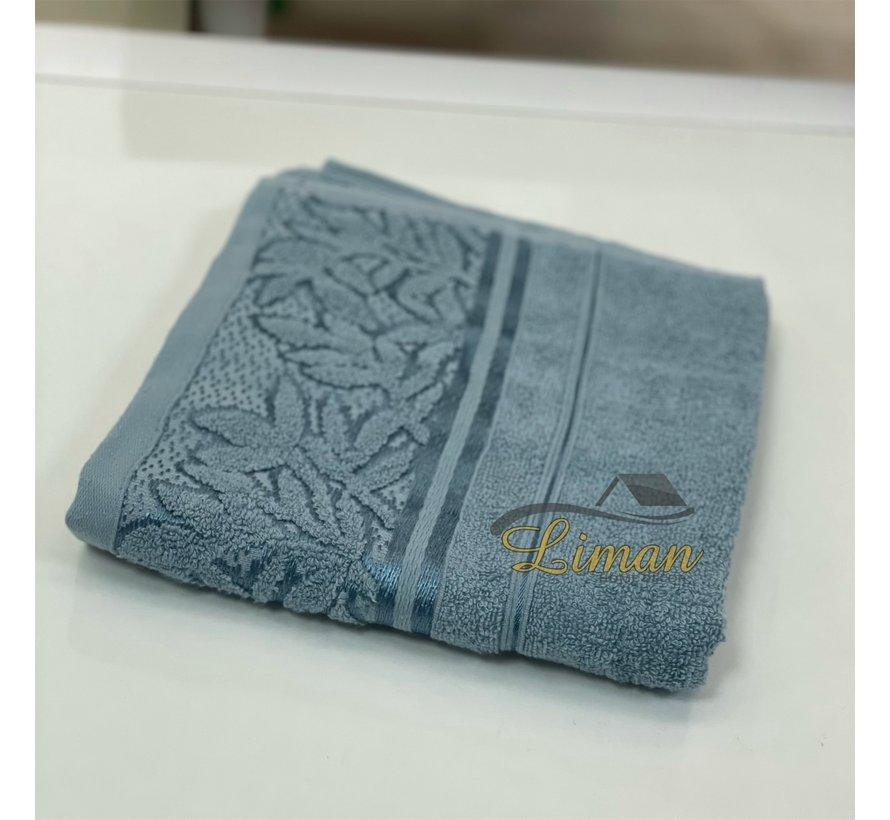 Ipekce Glory Handdoek 50 x 90 Cm Blauw